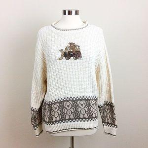 Shenandoah Teddy Bear Applique Sweater
